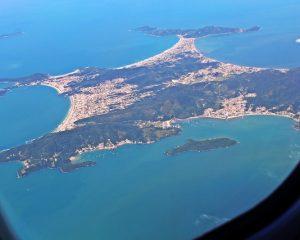 Vista aérea de Floripa - turismoonline.net.br