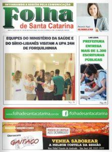 Edição Impressa Folha de Santa Catarina